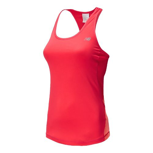 Womens New Balance Ice Tank Technical Top - Bright Cherry XL