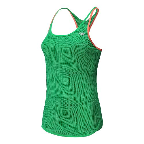 Womens New Balance Ice Graphic Tunic Tank Technical Top - Vital Green L