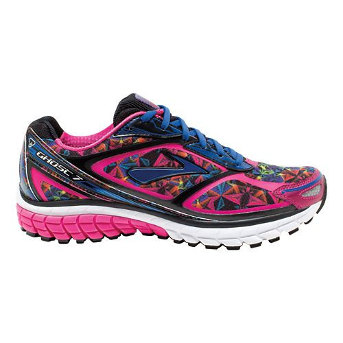 Womens Brooks Ghost 7 Kaleidoscope Running Shoe - Multicolor 9.5