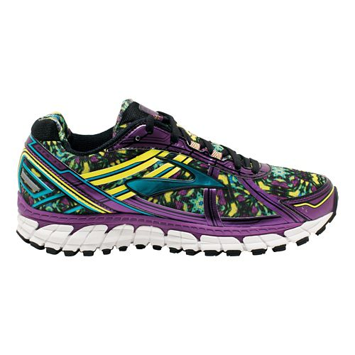 Womens Brooks Adrenaline GTS 15 Kaleidoscope Running Shoe - Berry/Multicolor 8.5