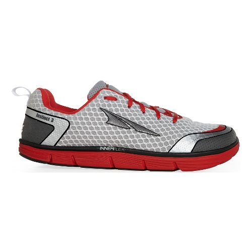Mens Altra Instinct 3.0 Running Shoe - Silver/Red 14