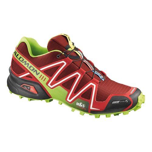 Mens Salomon Speedcross 3 CS Trail Running Shoe - Red/Green 9