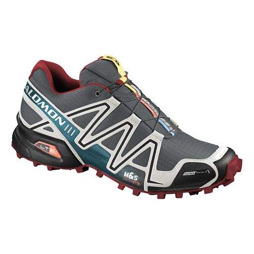 Mens Salomon Speedcross 3 CS Trail Running Shoe - Grey/Blue 10.5