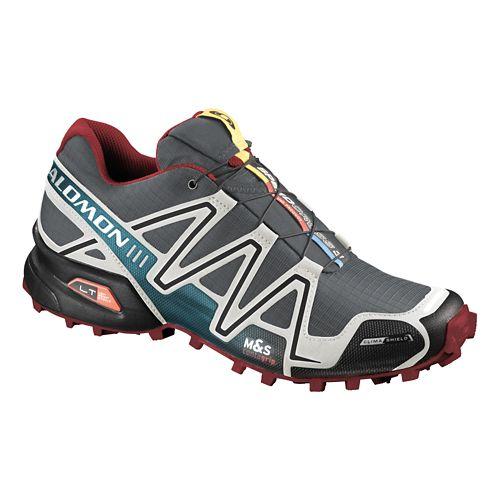 Mens Salomon Speedcross 3 CS Trail Running Shoe - Grey/Blue 7