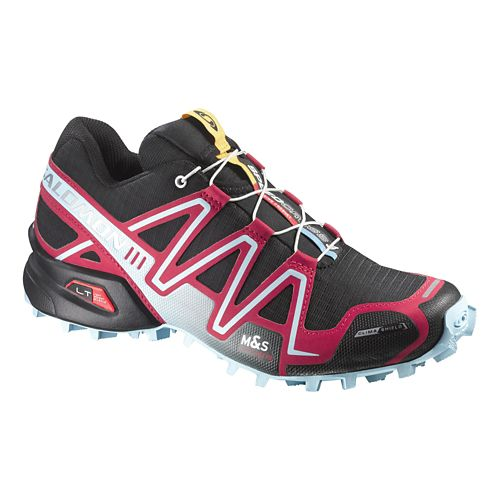 Womens Salomon Speedcross 3 CS Trail Running Shoe - Black/Pink 10