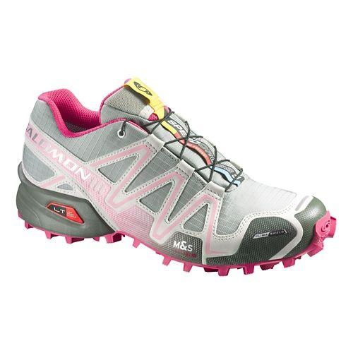 Womens Salomon Speedcross 3 CS Trail Running Shoe - Grey/Pink 7