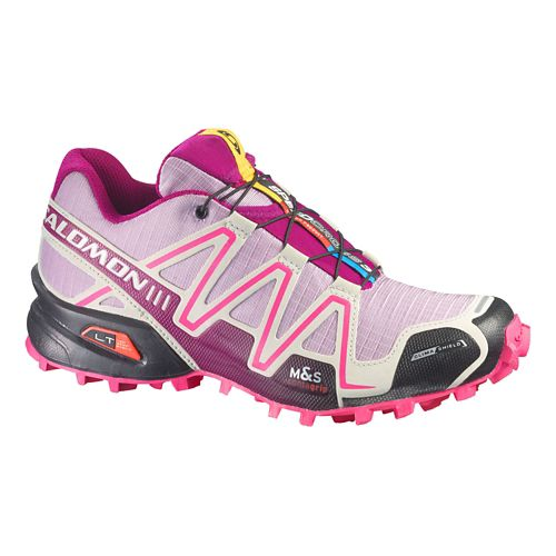 Womens Salomon Speedcross 3 CS Trail Running Shoe - Purple/Pink 10.5