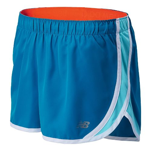 Womens New Balance Accelerate Split Shorts - Wave Blue M