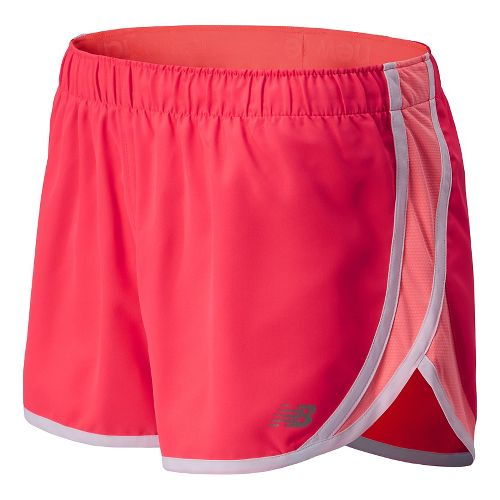 Womens New Balance Accelerate Split Shorts - Bright Cherry M