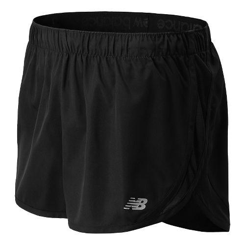Womens New Balance Accelerate Split Shorts - Black M