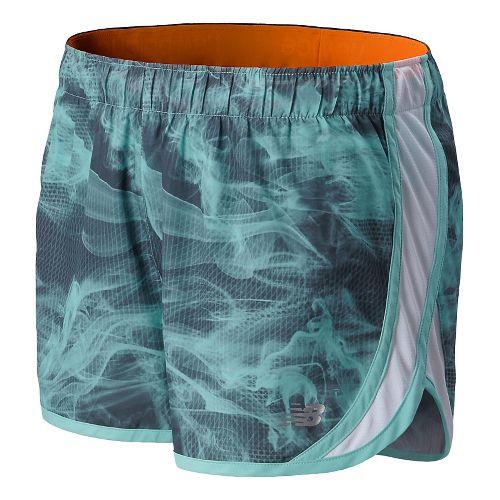 Womens New Balance Accelerate Graphic Split Shorts - Seaspray L