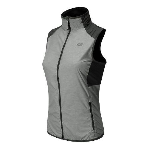 Womens New Balance Surface Running Vests - Black/Grey L
