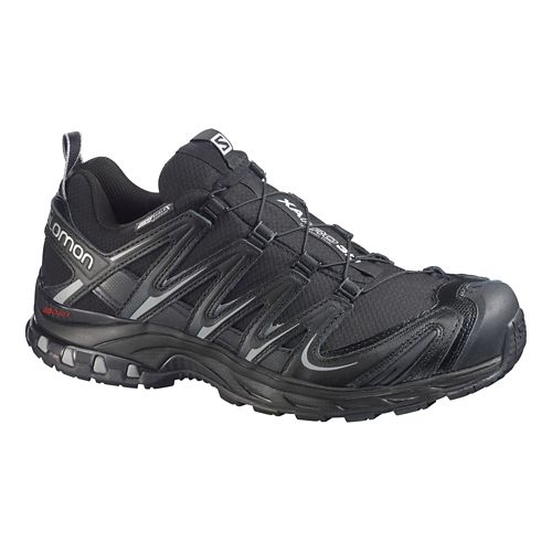 Mens Salomon XA Pro 3D CS WP Trail Running Shoe - Black/Grey 13