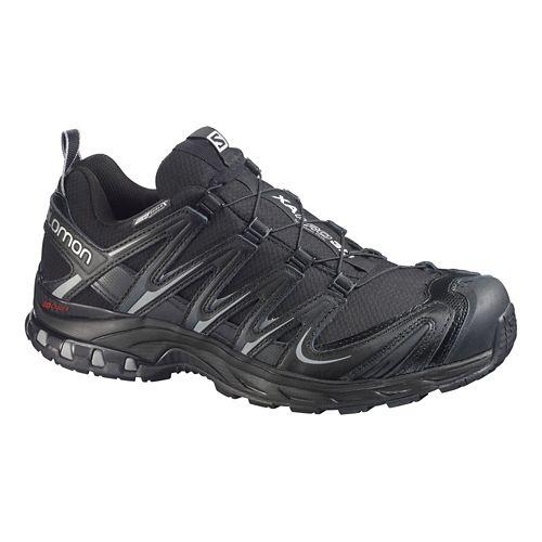 Mens Salomon XA Pro 3D CS WP Trail Running Shoe - Black/Grey 7.5
