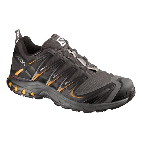 Mens Salomon XA Pro 3D CS WP Trail Running Shoe - Black/Orange 14