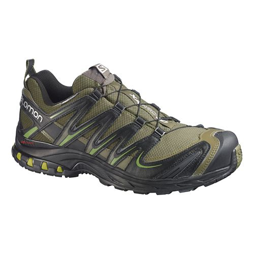 Mens Salomon XA Pro 3D CS WP Trail Running Shoe - Olive/Black 12