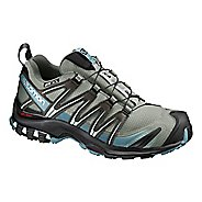 Womens Salomon XA Pro 3D CS WP Trail Running Shoe - Shadow/Black/Arctic 9
