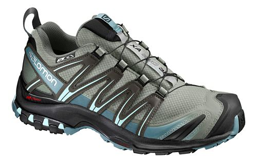 Womens Salomon XA Pro 3D CS WP Trail Running Shoe - Shadow/Black/Arctic 8.5