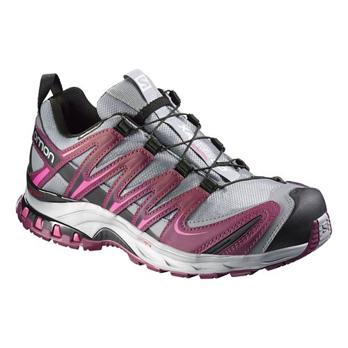 Womens Salomon XA Pro 3D CS WP Trail Running Shoe - Grey/Pink 5.5