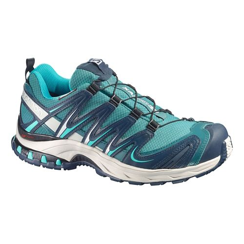 Womens Salomon XA Pro 3D CS WP Trail Running Shoe - Aqua/Grey 7.5