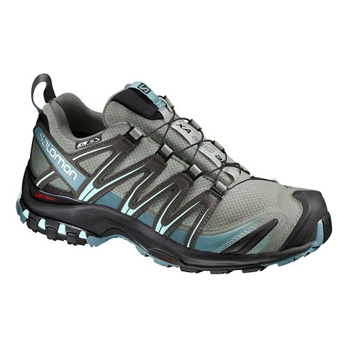 Womens Salomon XA Pro 3D CS WP Trail Running Shoe - Aqua/Grey 6.5