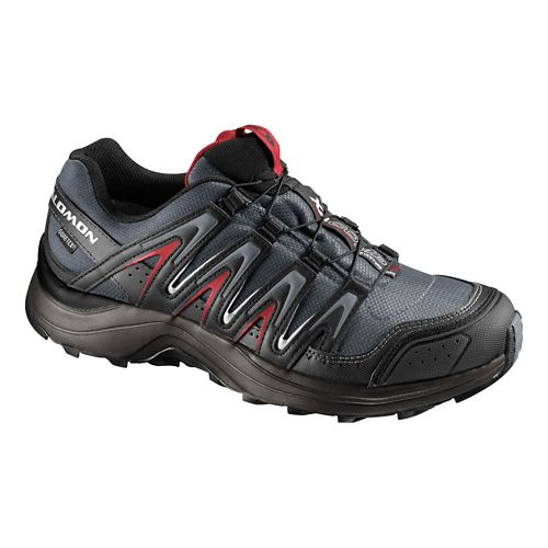 Mens Salomon XA Comp 7 CS WP Trail Running Shoe - Black/Red 10.5