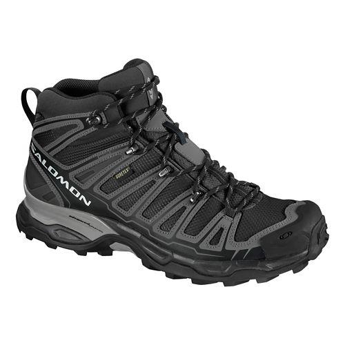 Mens Salomon X Ultra Mid GTX Hiking Shoe - Deep Blue/Aluminum 10.5