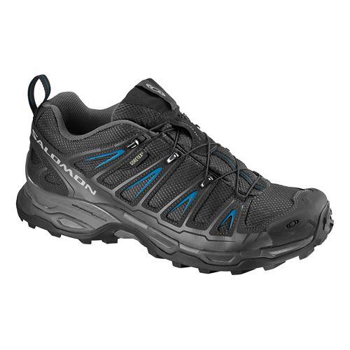 Mens Salomon X Ultra GTX Hiking Shoe - Black/Blue 11.5