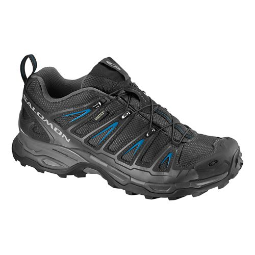 Mens Salomon X Ultra GTX Hiking Shoe - Black/Blue 8.5