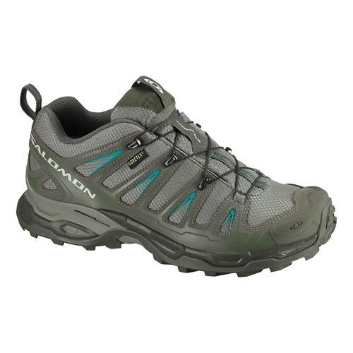 Womens Salomon X Ultra GTX Hiking Shoe - Dark Titanium/Olive 7