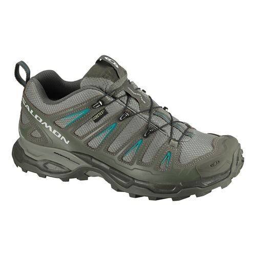 Womens Salomon X Ultra GTX Hiking Shoe - Dark Titanium/Olive 8