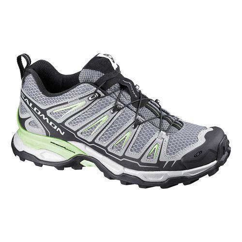 Womens Salomon X Ultra Hiking Shoe - Pearl Grey/Green 5.5