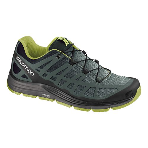 Mens Salomon Synapse Hiking Shoe - Black/Green 7.5