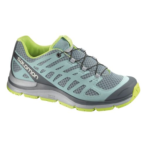 Womens Salomon Synapse W+ Hiking Shoe - Grey/Blue 5