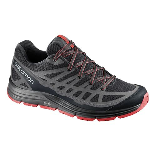Mens Salomon Synapse Access Hiking Shoe - Black/Red 7.5