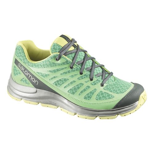 Womens Salomon Synapse Access W+ Hiking Shoe - Wasabi/Grey 7.5