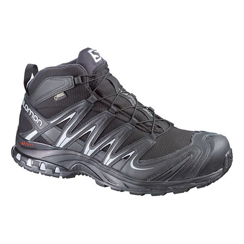 Mens Salomon XA Pro Mid GTX Hiking Shoe - Black/Grey 8.5
