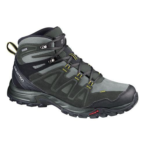 Mens Salomon Eskape Mid LTR GTX Hiking Shoe - Charcoal/Grey 10.5