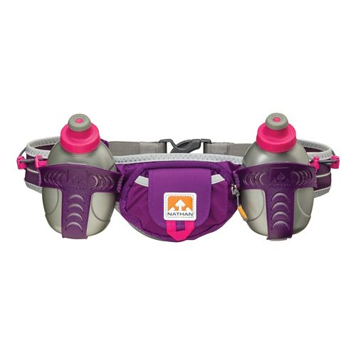 Nathan Trail Mix 2 Bottle Belt (20 ounce) Hydration - Imperial Purple