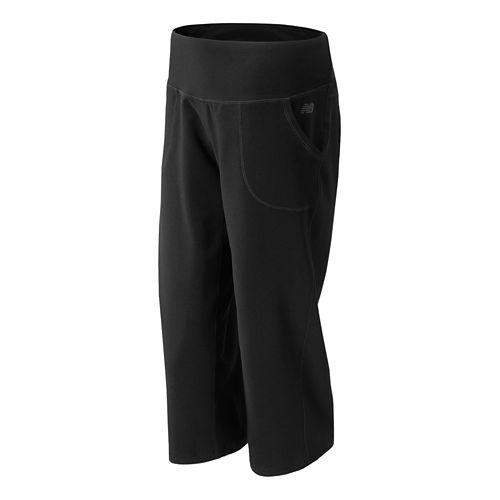 Womens New Balance Carefree Contender Capri Pants - Black XS