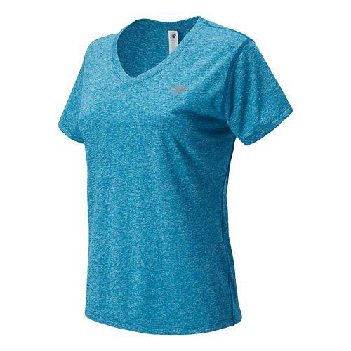 Women's New Balance�Heathered V-Neck Short Sleeve