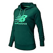 Womens New Balance Essentials Pullover Warm Up Hooded Jackets
