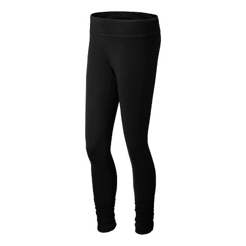 Womens New Balance Spree Shirred Full Length Tights - Black L