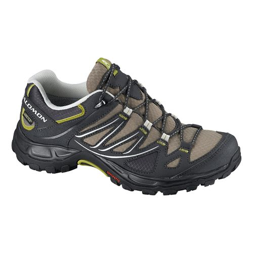 Womens Salomon Ellipse GTX Hiking Shoe - Thyme/Black 5.5