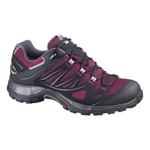 Womens Salomon Ellipse GTX Hiking Shoe - Bordeaux/Black 7.5