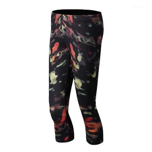 Womens New Balance Printed Capri Tights - Multi Color XS