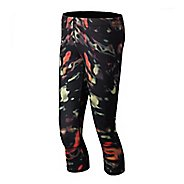 Womens New Balance Printed Capri Tights