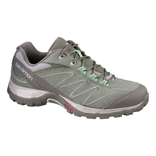 Womens Salomon Ellipse LTR Hiking Shoe - Swamp/Grey 5