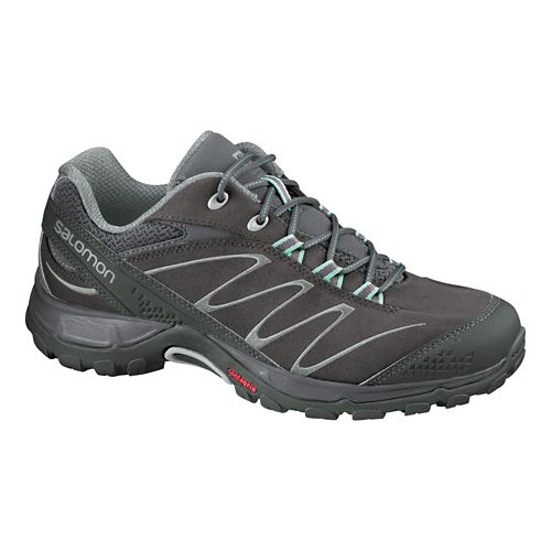 Womens Salomon Ellipse LTR Hiking Shoe - Swamp/Grey 10
