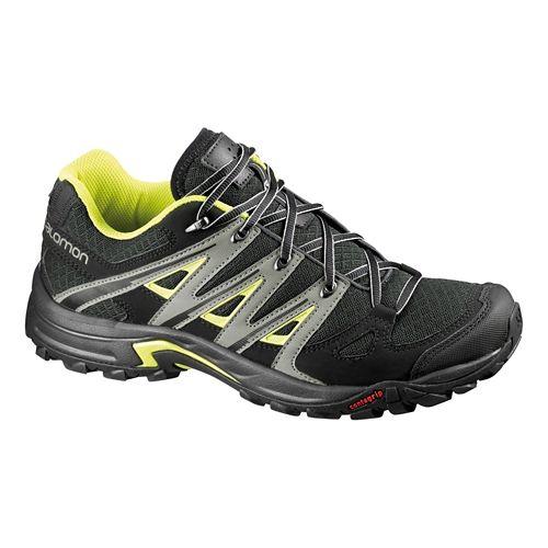 Mens Salomon Eskape Aero Hiking Shoe - Asphalt/Yellow 7.5